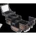 Професионален куфар за грим с огледало LUX Bronze Coffee
