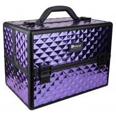 Професионален куфар за грим Purple Rhomb