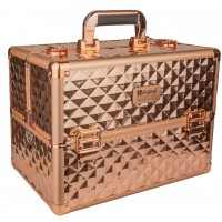 Професионален куфар за грим Rose Gold Rhomb