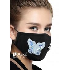 Маска трислойна с клапа и филтър активен въглен PM2.5 дизайн 23 пеперуда