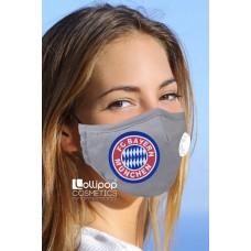 Маска трислойна с клапа и филтър активен въглен PM2.5 дизайн 31 Bayern