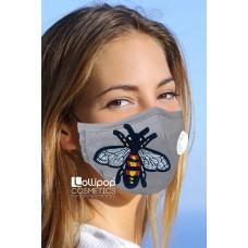 Маска трислойна с клапа и филтър активен въглен PM2.5 дизайн 49 насекомо