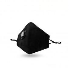 Маска трислойна с клапа и филтър активен въглен РМ 2.5 BLACK