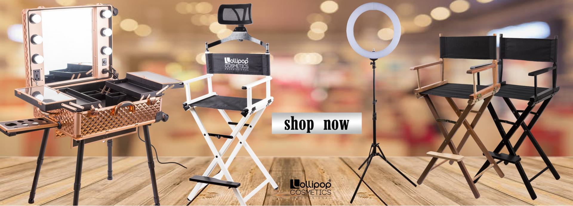 Стол за грим, ринг лампа, грим станция, гримьорски стол