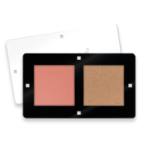 2 COLORS BLUSH AND BRONZER PALETTE LOMBARDIA